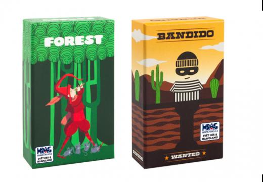 Bandido a Forest jsou dvě nové karetní hry v češtině