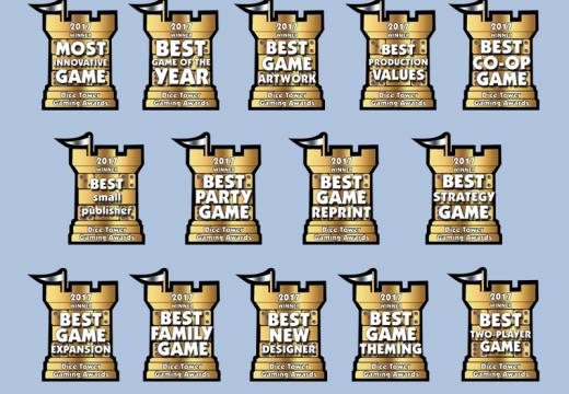 Jaké hry získaly cenu Dice Tower 2017