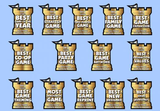 Jaké hry získaly cenu Dice Tower 2016