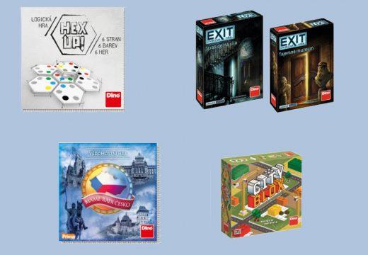 Dino chystá nové Exity a původní českou hru Hex Up!