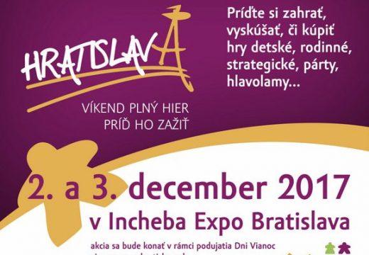 Pozvánka: HRAtislava se letos uskuteční 2. a 3. prosince