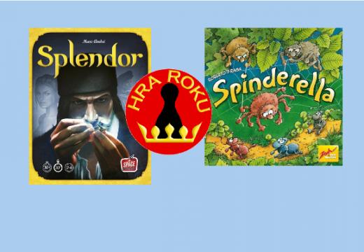 Českou Hrou roku 2015 je Splendor a Dětskou hrou roku Spinderella
