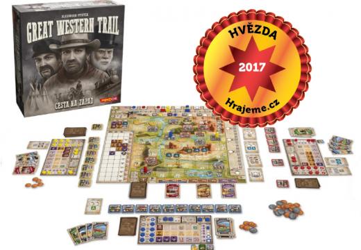 Hvězdou Hrajeme.cz 2017 je strategická hra Great Western Trail