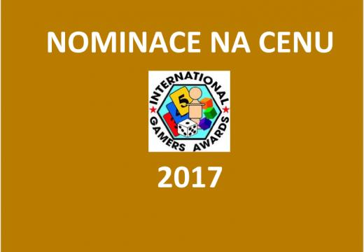 Jaké jsou nominace na cenu International Gamers Awards 2017