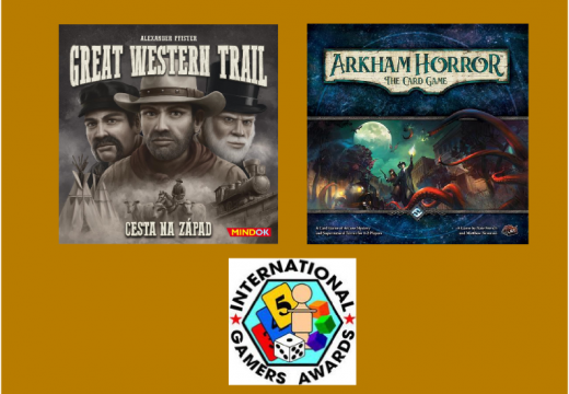 Cenu IGA 2017 získaly hry Great Western Trail a Arkham Horror: The Card Game