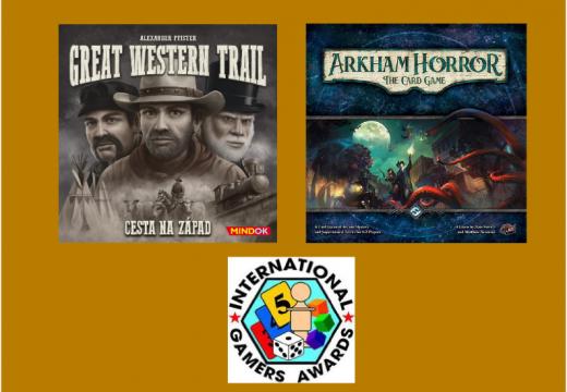 Cenu IGA 2017 získaly hry Great Western Trail a Arkham Horror: The Card Game