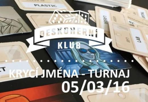 Pozvánka: Turnaj ve hře Krycí jména v Brně