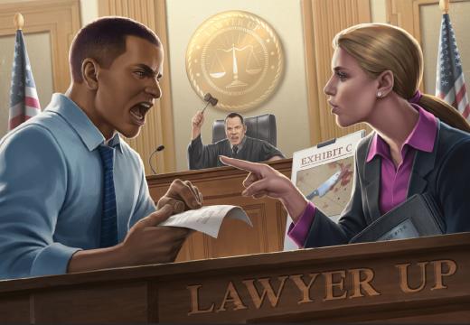 Lawyer Up je asymetrická karetní hra pro dva, vyjde česky
