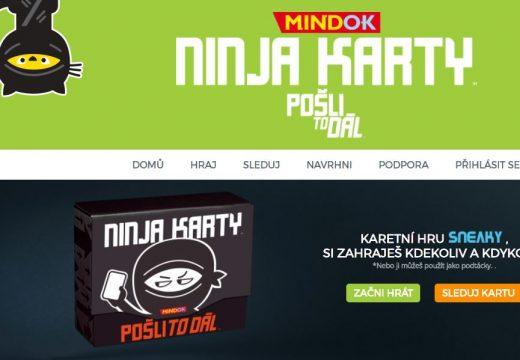 Ninja karty: Pošli to dál je trochu jiná hra, přijměte výzvu