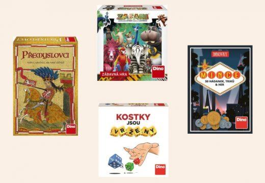 Dino přineslo nové rodinné hry – s kostkami, mincemi, zvířaty a o historii