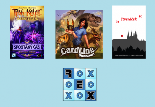Novinky od REXher: Cardline, Čtveráček, Tash-Kalar