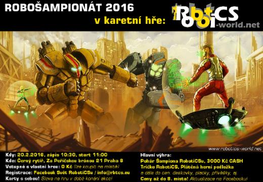 První šampionát ve hře RobotiCS se uskuteční tuto sobotu