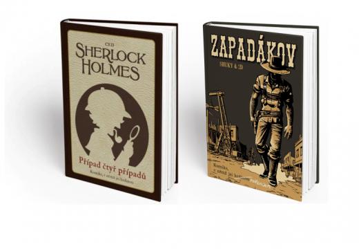 Nové komiksové gamebooky Sherlock Holms a Zapadákov dorazily