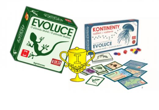 Vítěz soutěže o hru Evoluce: O původu druhů a rozšíření Kontinenty