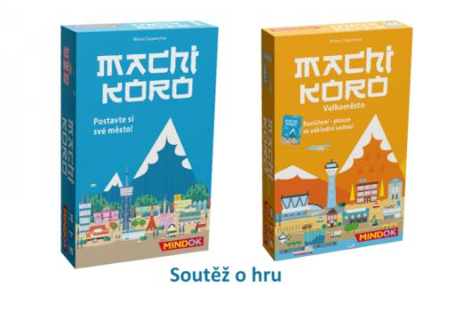 Soutěž o hru Machi Koro a rozšíření Velkoměsto