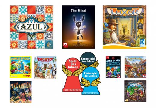 Jaké jsou nominace na cenu Spiel des Jahres 2018