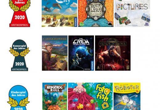 Jaké jsou nominace na cenu Spiel des Jahres 2020