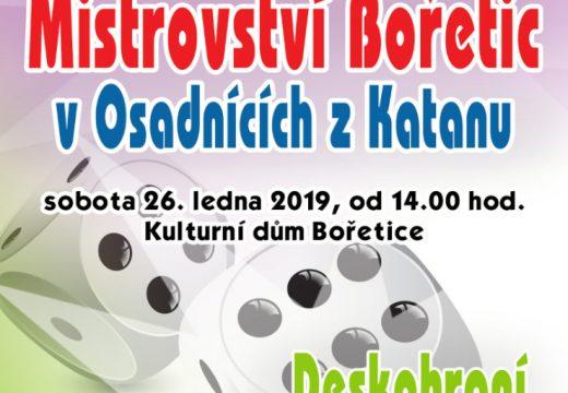 Pozvánka: Mistrovství Bořetic v Osadnících z Katanu 2019