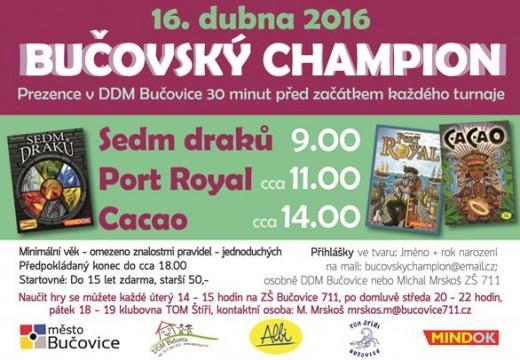 Pozvánka: Bučovský champion 2016