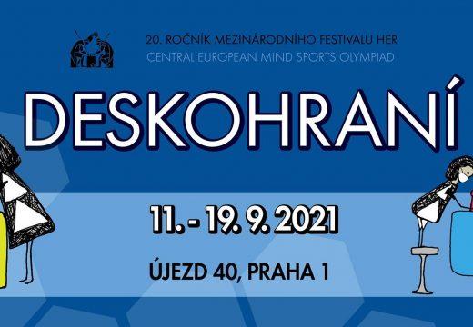 Pozvánka: Navštivte Deskohraní 2021 v Praze, začíná 11. září