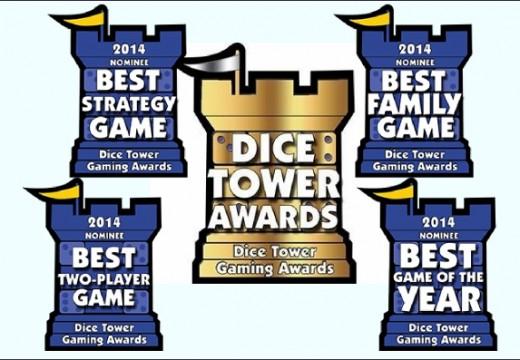 Jaké jsou nominace na Dice Tower Award 2014