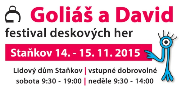 Pozvánka na 10. ročník herního festivalu Goliáš a David