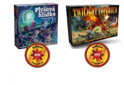 Hvězdami Hrajeme.cz 2019 jsou hry Plyšová hlídka a Twilight Imperium