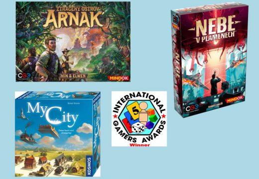 Cenu IGA 2021 získaly hry Ztracený ostrov Arnak a Nebe v plamenech
