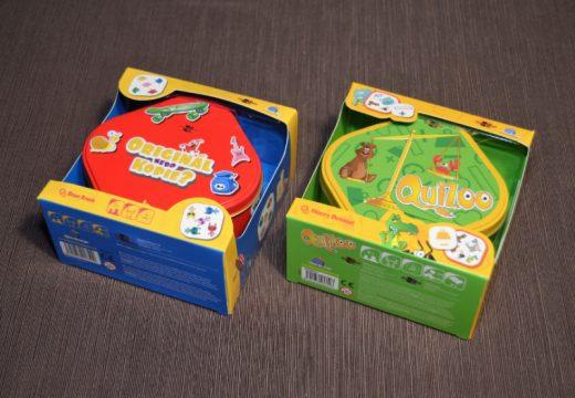 QuiZoo a Originál nebo kopie? jsou dvě nové postřehovky v plechové krabičce