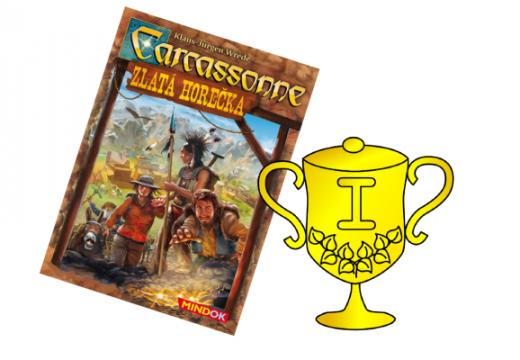 Vyhlášení vítěze v soutěži o hru Carcassonne: Zlatá horečka