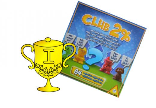 Vítěz soutěže o hru Club 2%
