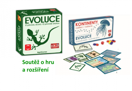 Soutěž o hru Evoluce: O původu druhů a rozšíření Kontinenty