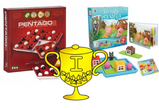 Výsledky soutěží o hry Pentago a SMART Tři malá prasátka