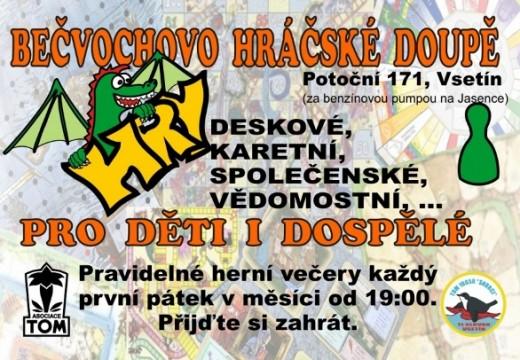 Herní klub Bečvochovo hráčské doupě ze Vsetína se představuje